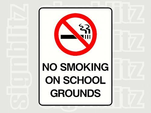 No Smoking School Sign